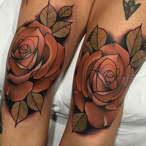 Popular Lower Thigh Tattoos For Women