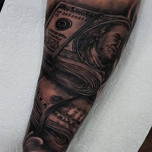 Popular Money Stack Tattoo