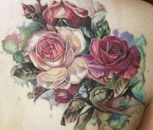 Pretty Flower Tattoos Women