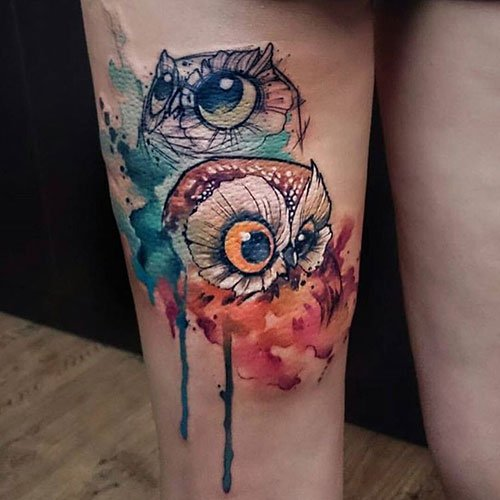 Pretty Thigh Tattoos For Girls
