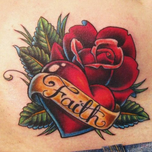 Rose Tattoo with Name