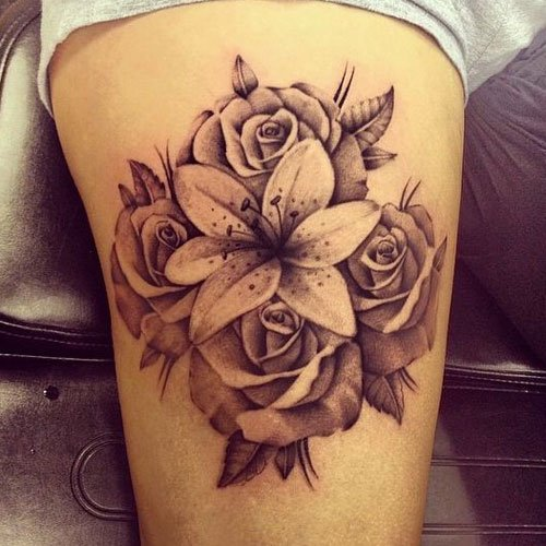 Rose and Lily Tattoo