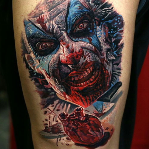 Scary Clown Tattoo Ideas For Men