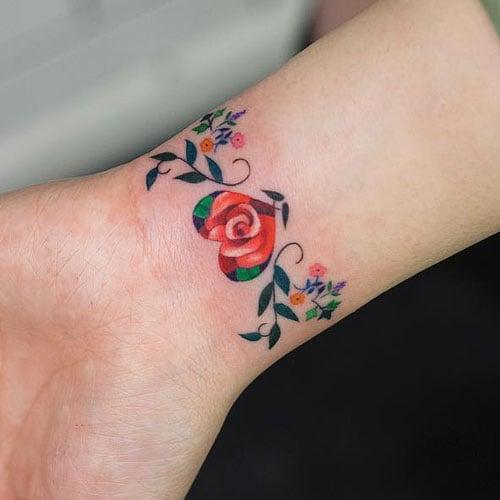 Small Flower Wrist Tattoos