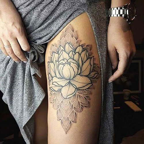 Thigh Piece Tattoos For Women