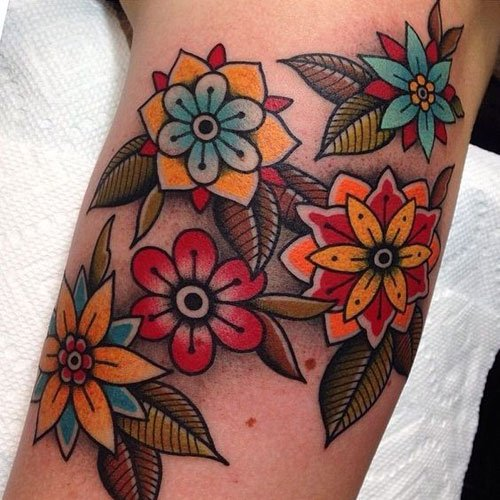 Traditional Flower Tattoos: Designs, Ideas And Meanings