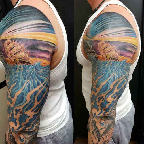 Unique Colorful Half Sleeve Tattoo Ideas