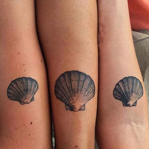 Amazing Matching Shell Tattoo Ideas