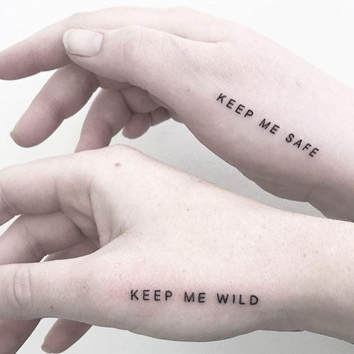Awesome Friedship Quote Tattoo