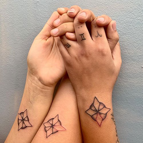Best Matching Flower Tattoo