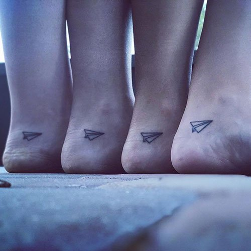 Cool Matching Foot Tattoo