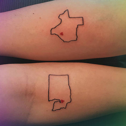 Cute State Tattoos