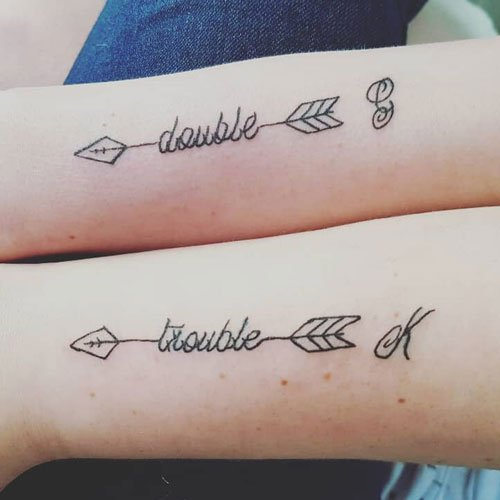 Matching Arrow Tattoo With Quote