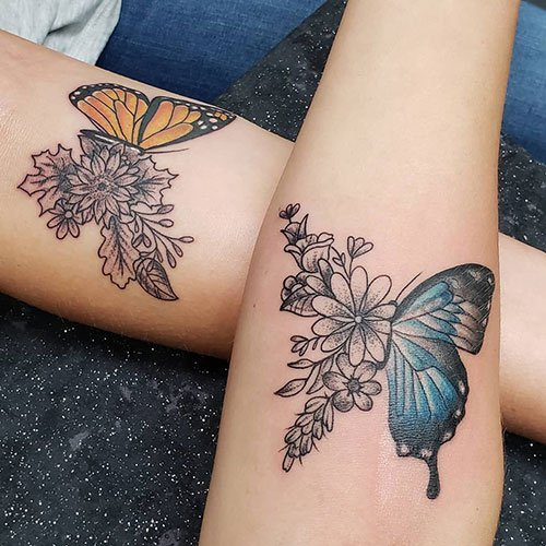 Matching Butterfly Design