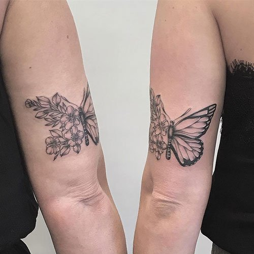 Matching Butterfly Tattoo
