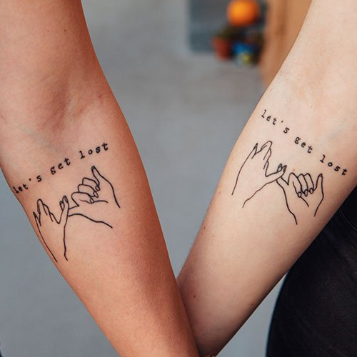 Matching Pinky Promise Tattoo Ideas