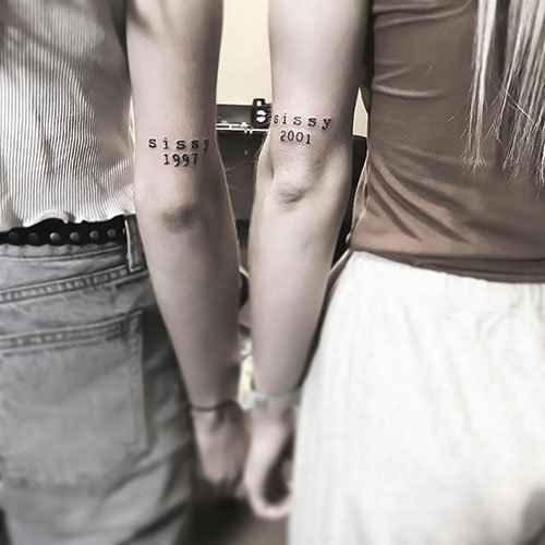 Matching Sister Tattoos