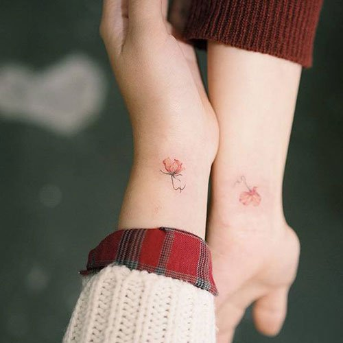 Best Small Mother Daughter Matching Tattoos