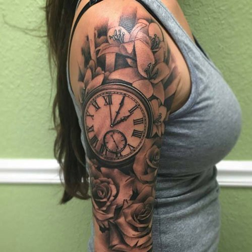 Clock Tattoo Ideas For Women