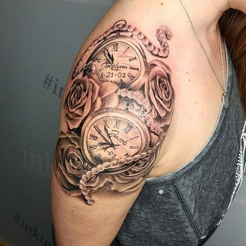 Clock Tattoos For Women