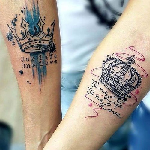 Cute King and Queen Tattoos