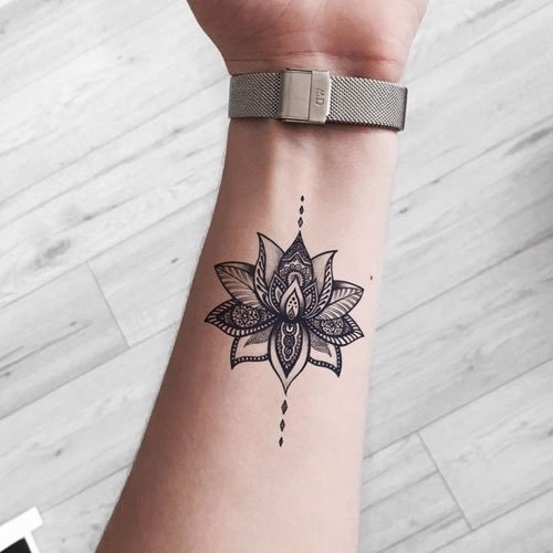 Cute Lotus Flower Tattoo Ideas For Women