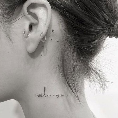 Cute Neck Tattoo Ideas For Girls