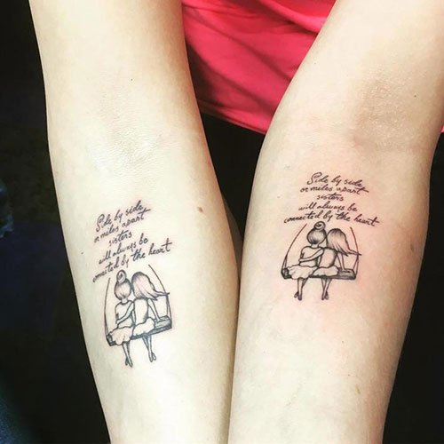 101 Cute Matching Sister Tattoos: Meaningful Ideas + Designs ...