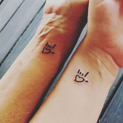 Matching Mother Daughter Tattoos