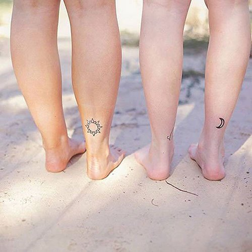 Mother Daughter Ankle Tattoos