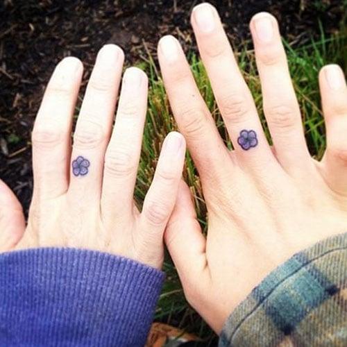 Mother Daughter Finger Tattoos
