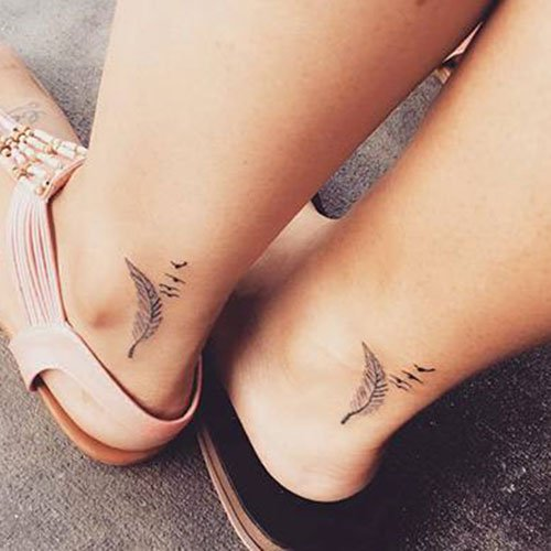 Mother and Daughter Ankle Tattoos