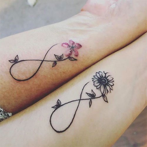 Mother and Daughter Infinity Tattoo Idea