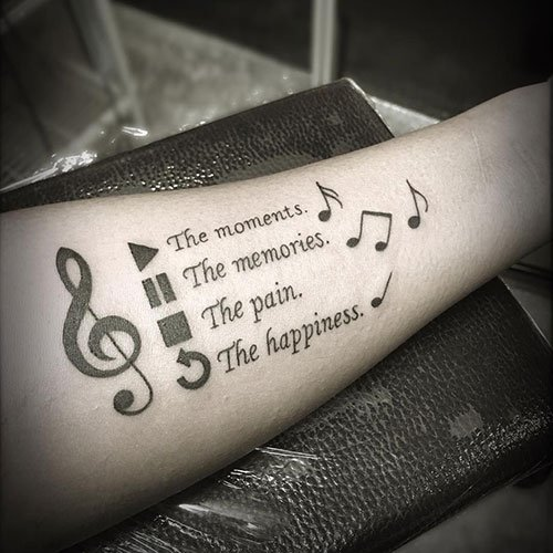 Music Tattoos For Women