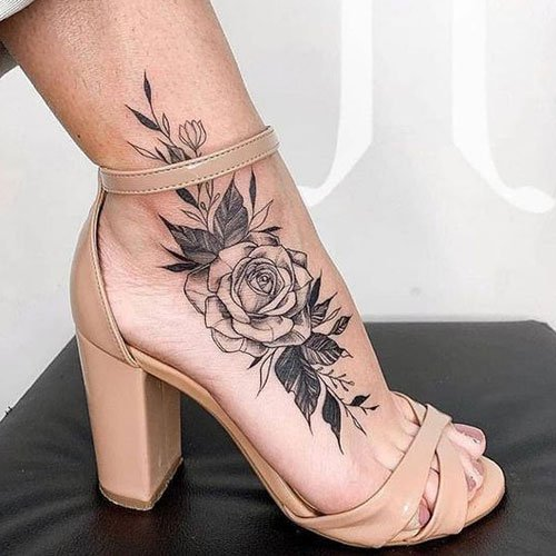 Sexy Rose Tattoo Ideas For Women