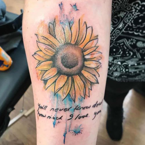 Sunflower Tattoo Ideas For Girls