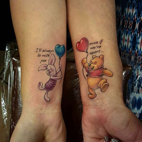 Winnie The Pooh Mother Daughter Tattoo