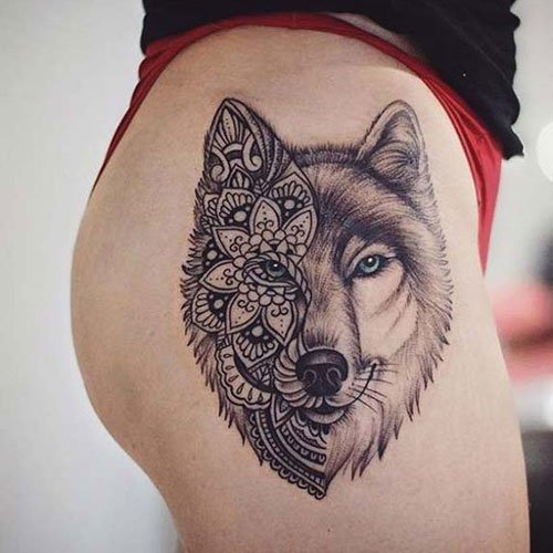 Wolf Tattoo For Women