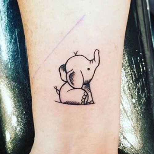 Adorable Baby Elephant Tattoo Ideas