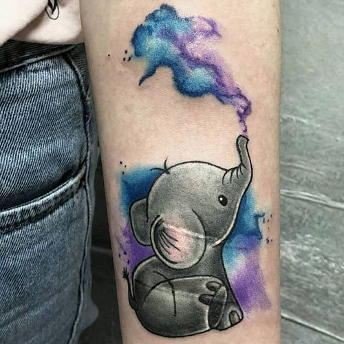 Baby Elephant Arm Tattoo Designs