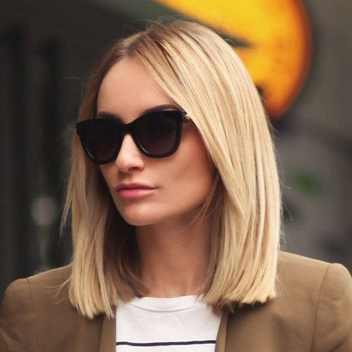 Blunt Cut Bob Haircut For Fine Hair