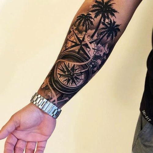 Compass Tattoo Ideas For Men