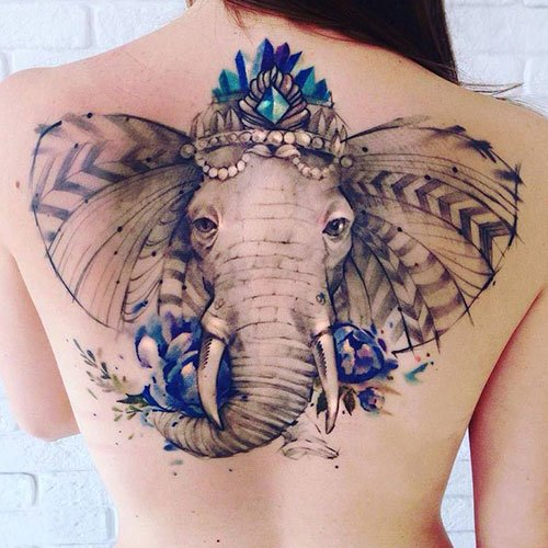 Elephant Head Tattoo