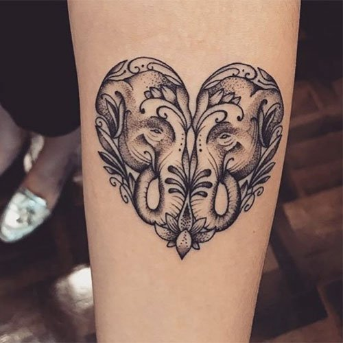 Elephant Heart Tattoo