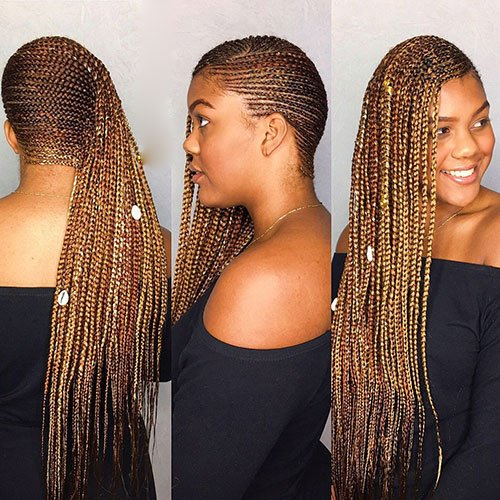 Long Lemonade Braids