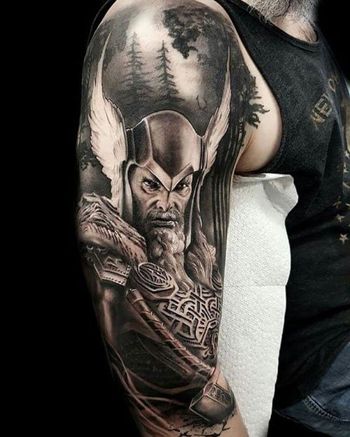 Norse Viking Warrior God Tattoo