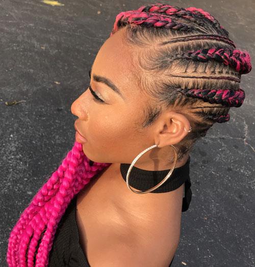 Pink Lemonade Braids