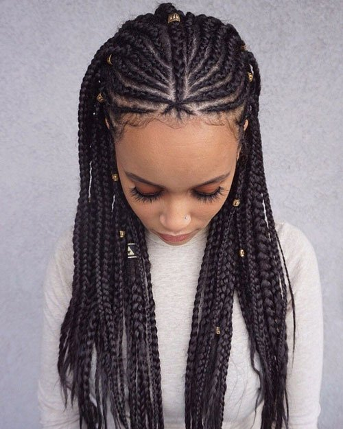 Pulled Back Braids