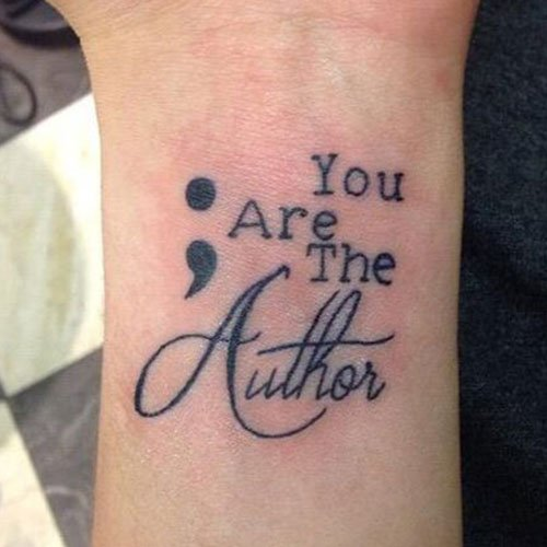 Quote Semicolon Tattoo