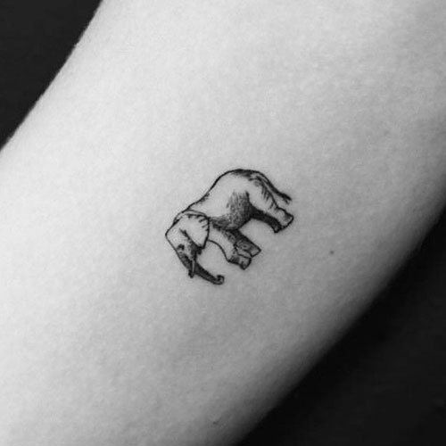 Small Elephant Tattoo Ideas